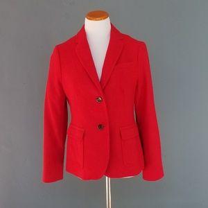 Talbots Red Wool Blazer Coat 8